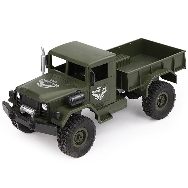 JJRC Q62 1/16 2.4G 4WD Off-Road Military Truck Crawler RC Car - ARMY GREEN