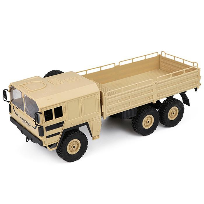 JRC Q64 1 / 16 2.4G 6WD RC Car Military Truck Rock Crawler RTR Toy - CHAMPAGNE