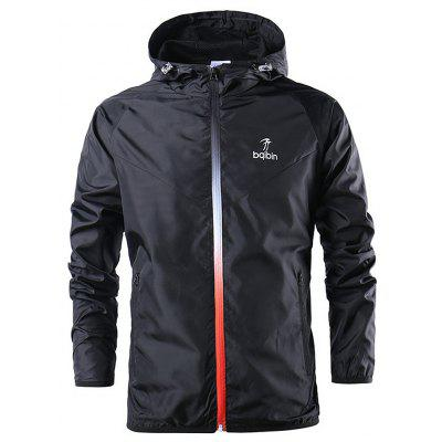 Hooded Youth Running Simple Jacket