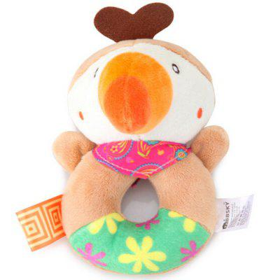 Cute Cartoon Animal Hand Ring Rattle Baby Hand Catching Bell Plush Toy