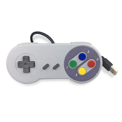 Portable USB Port Game Handle Gamepad for WII SNES Controller