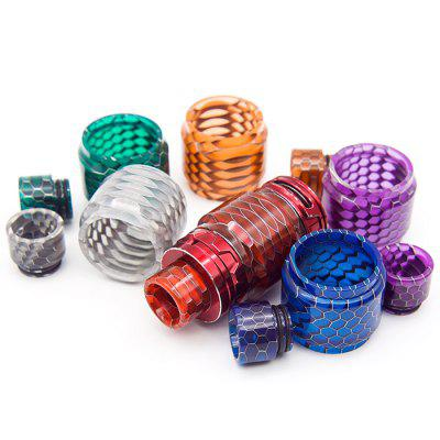 TFV12 Prince Atomizer Snake Skin Resin Warehouse Honeycomb Mouthpiece Set Drip Tip Snake Pattern 810 Drop Mouth