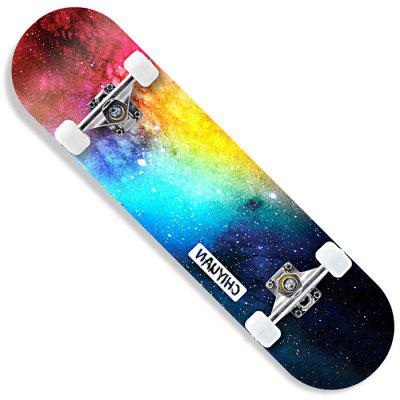 CHIYUAN Four-wheeled Skateboard Beginners Men And Women Novice Double Rocker Road Adult Children And Adolescents Professional Scooter - Nebula