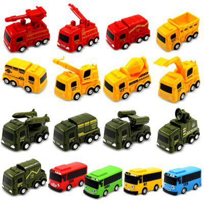 Children Toy Car Break Proof Pull-back Vehicle + Fire Truck + Military Car + Engineering Vehicle