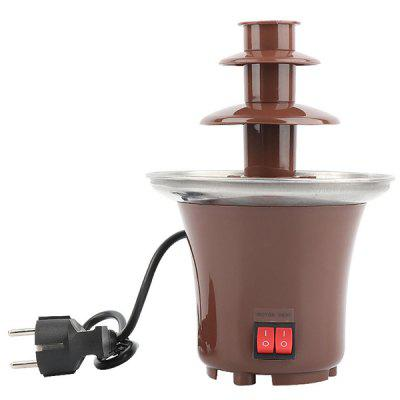 Household Three-layer Chocolate Fountain Machine Diy Mini Waterfall Hot Pot Melter Party Event Automatic Melting