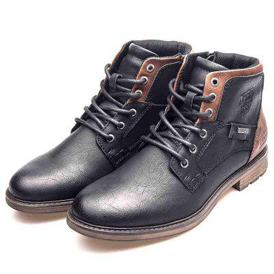 XPER Men Warm Waterproof Comfortable Lace-up Boots