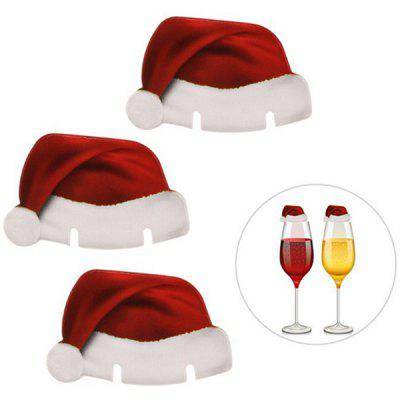 Christmas Party Supplies Hat Wine Glass Cards 10pcs