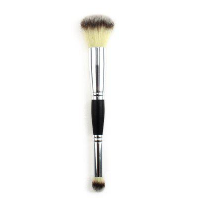 Multi-function Single Double-head Makeup Brush Blush Eye Shadow Brush Three-color Fine Light Front Wooden Handle Beauty Tools