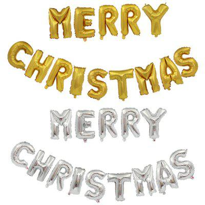 Merry Christmas Letters Aluminum Balloon 14 Letter Set