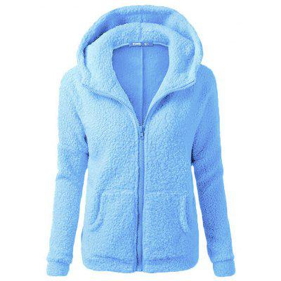 SYWT 0110 Women Multicolor Solid Color Thicken Hoodie