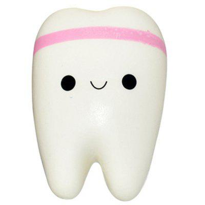 Simulation Tooth Hang Pendant Slow Rebound Decompression Toy
