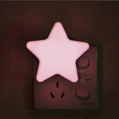 Five-pointed Star Round Foot Night Light LED Induction