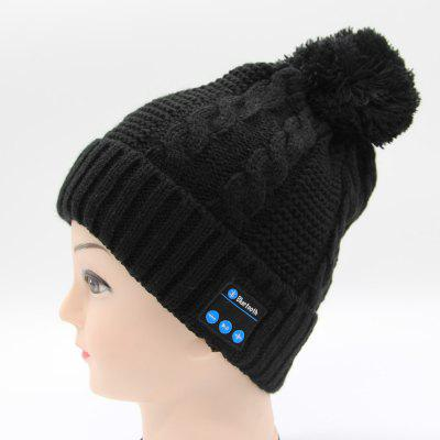 Q6 Wireless Bluetooth Headphones Music Hat Warm Beanie Cap