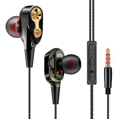 QKZ CK8 Wired Dual Dynamic oordopjes Heavy Bass Stereo In-ear koptelefoon