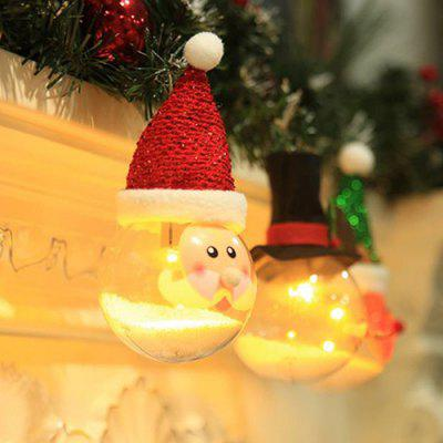 Creative Old Man Snowman Christmas Tree Decoration With Lights Glowing Bubble Particles Transparent Christmas Ball