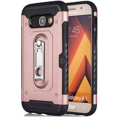 Military-grade Anti-wrestling Horse Bracket Two-in-one Mobile Phone Case for Samsung A5-2017