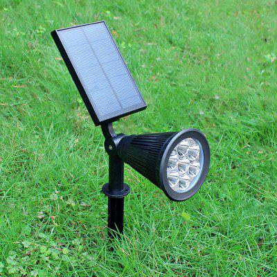 7-LED Light Control Solar Power Lamp for Wall / Garden / Lawn
