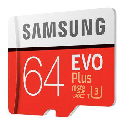 Samsung UHS 3 64GB Micro SDXC Memory Card CHESTNUT RED 64GB