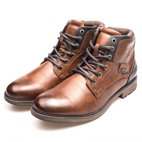 d59b5b84f XPER Men Warm Waterproof Comfortable Lace-up Boots