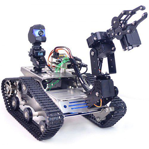 XiaoR-GEEK WiFi Bluetooth4.2 Video Smart Car Robotic Robot Kit for Raspberry Pi 3B+ - BLACK A1 STANDARD CLAW ARM