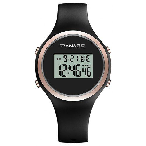 PANARS 8122 Luminous Student Electronic Watch Fashion Generous Simple Waterproof Silicone Belt