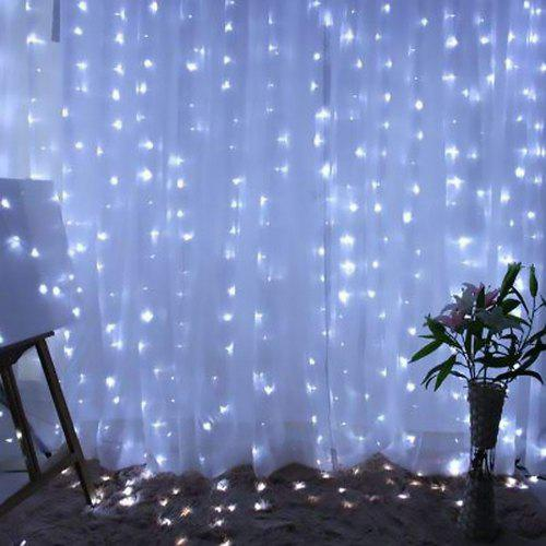 KPSSDD USB White 300Lights Curtain String Lamp