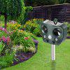 Solar Charging Outdoor Ultrasonic Repeller Animal Drive Drive Cat Drive Bird Drive Dog - SEA GREEN