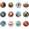 Christmas Decorations Glass Magnetic Refrigerator Stickers 12 Packs - MULTI-A