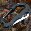Outdoor Multi-function Carabiner Quick-hang Buckle With Knife Cross Word Alloy Five-in-one - BLACK