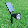 7-LED Light Control Solar Power Lamp for Wall / Garden / Lawn - WARM WHITE