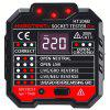 RCD Leakage Switch Detector Socket Tester with LCD Screen - BLACK