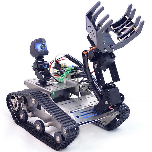 ChinaBestPrices - XiaoR-GEEK WiFi Bluetooth4.2 Video Auto Intelligente Robot Kit per Raspberry Pi 3B+