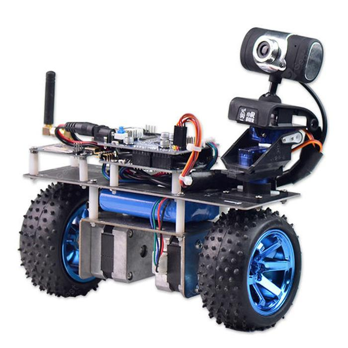 XiaoR - GEEK STM32 Self Robot Smart Robot Car WiFi Modul Video APP Mengawal Selesai Versi - BLACK