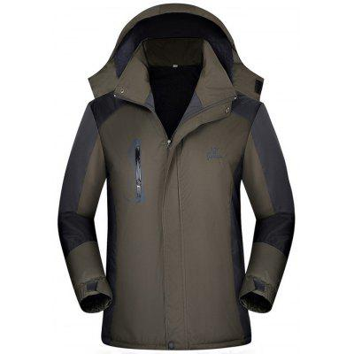 Men Waterproof Windbreaker Warm Jacket