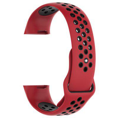 Sports Watch Silicone Two-color Wrist Strap Large for Fitbit Charge3 Smart Bracelet