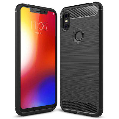 Naxtop Carbon Fiber Brushed Non-slip Soft Protection Back Cover Case For Motorola One Power / P30 Note