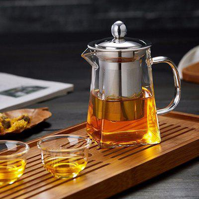 Highly Resistant Borosilicate Glass Large Capacity Filter Teapot