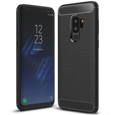 Naxtop Carbon Fiber Brushed Non-slip Soft Protection Back Cover Case for Samsung Galaxy S9 Plus / S9+ / G965