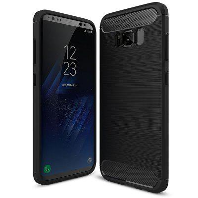 Naxtop Carbon Fiber Brushed Non-slip Soft Protective Back Cover Case for Samsung Galaxy S8 Plus / S8+ / G955