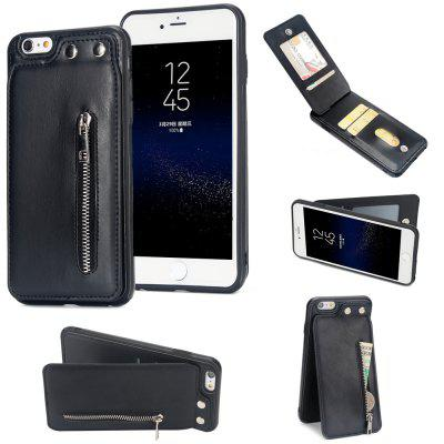 PU Leather Zipper Wallet Card Slot Fold Phone Cover Case for iPhone6 / 6S Plus