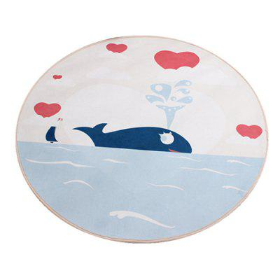 Computer Chair Whale Pad Printing Cartoon Waterproof Children Cushion