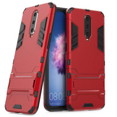 Armored All-inclusive with Bracket Three-in-one Matte Drop-proof Protective Shell Mobile Phone Case for OPPO - R17 PRO