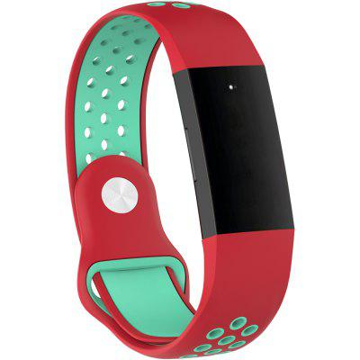 Siliconen tweekleurige polsbandriem voor Fitbit Charge3 Smart Bracelet Sports Watch