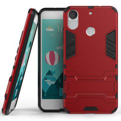 Armor All-inclusive with Bracket Three-in-one Matte Drop-proof Protective Shell Mobile Phone Shell for HTC - Desire - 10 - pro