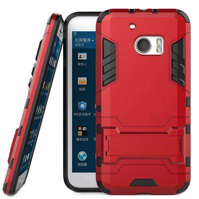 Armor All-inclusive with Bracket Three-in-one Matte Drop-proof Protective Shell Mobile Phone Case for HTC M10