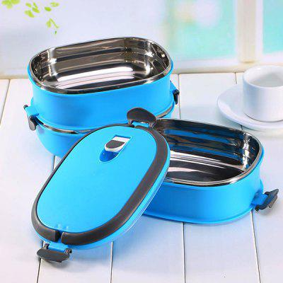 Multi-functional Three-layer Stainless Steel Lunch Food Container