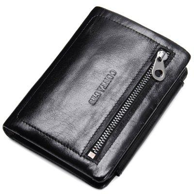 M1045 Men's Wallet Leather Fashion Casual Oil Wax Leather Wallet