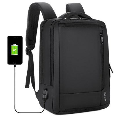 meinaili 1805 Nylon Business Travel Backpack Laptop Bag with USB Port