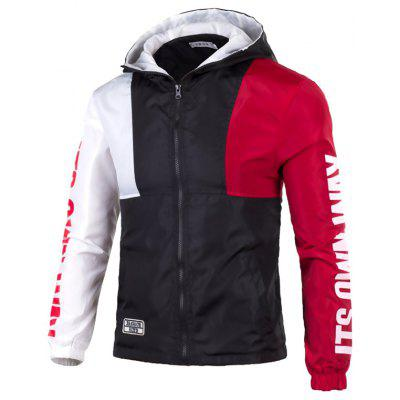 Casual Color Matching Sports Jacket