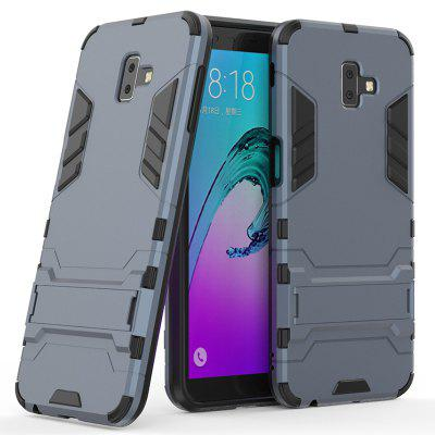 Armor All-inclusive with Bracket Three in One Drop-proof Mobile Phone Shell for Samsung Galaxy J6 Prime / J6 Plus